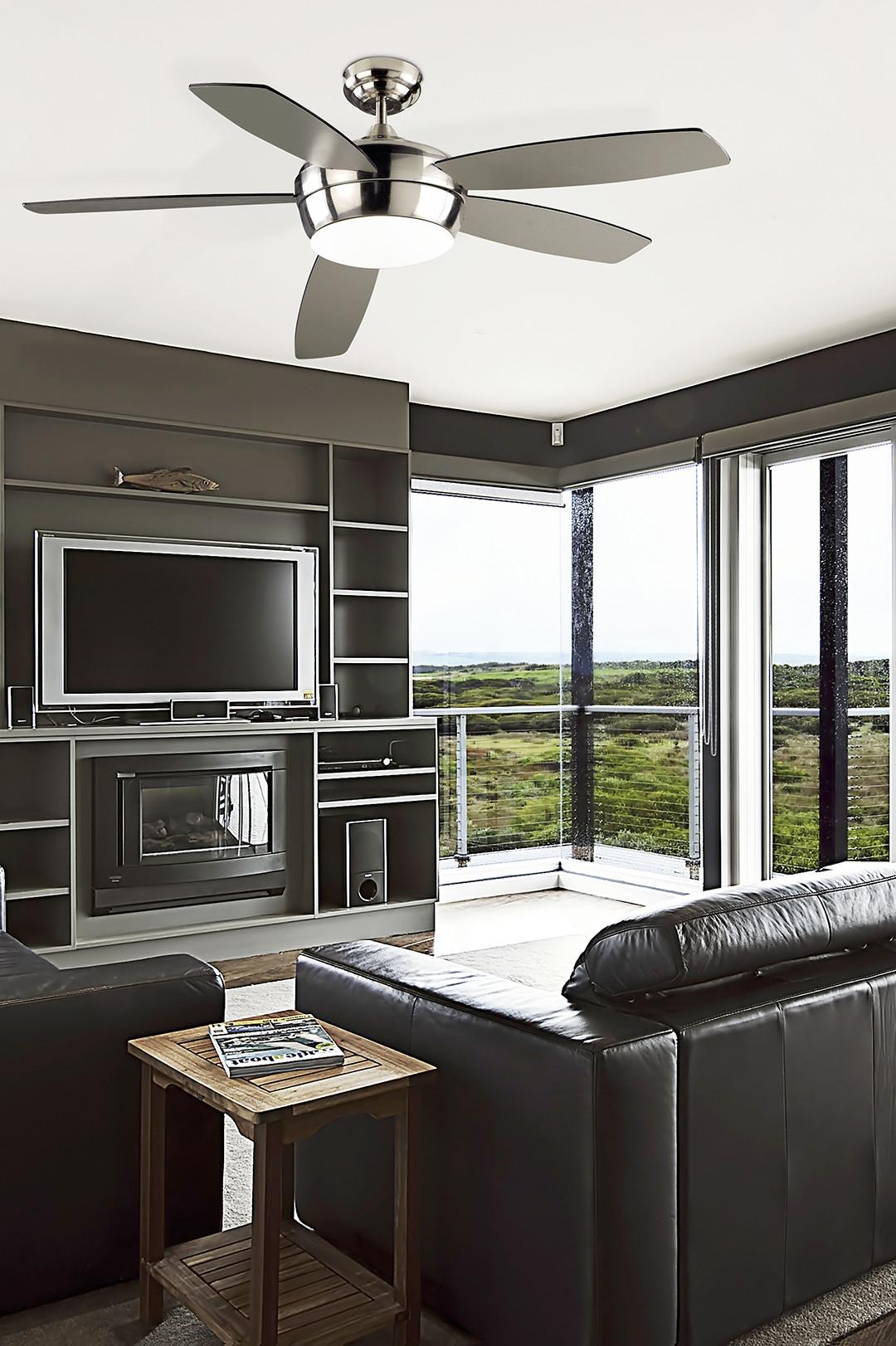 ventilateur de plafond lumineux 3 vitesses gamme samal. Black Bedroom Furniture Sets. Home Design Ideas