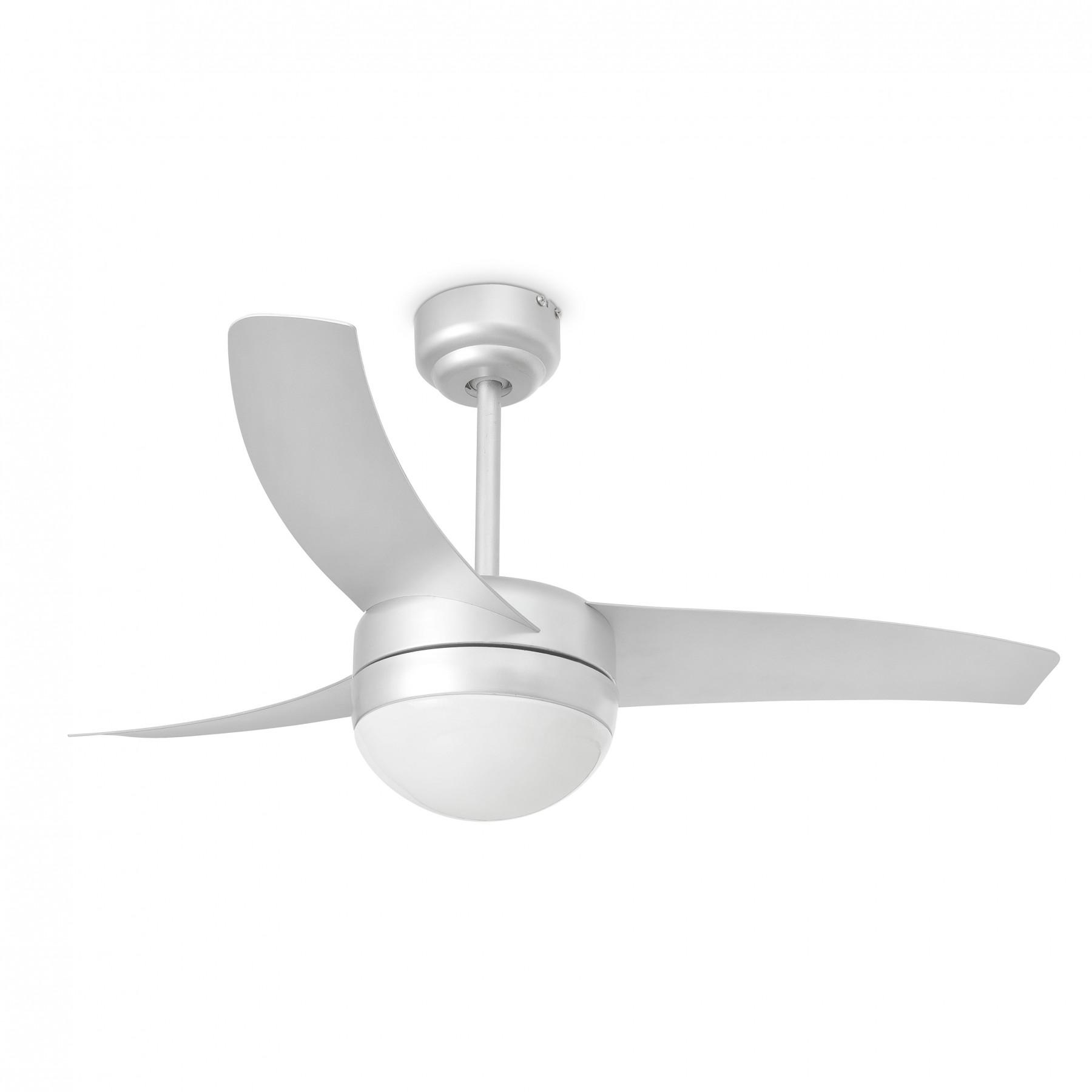 Ventilateur de plafond lumineux easy gris 3 pales design - Ventilateur plafond design ...