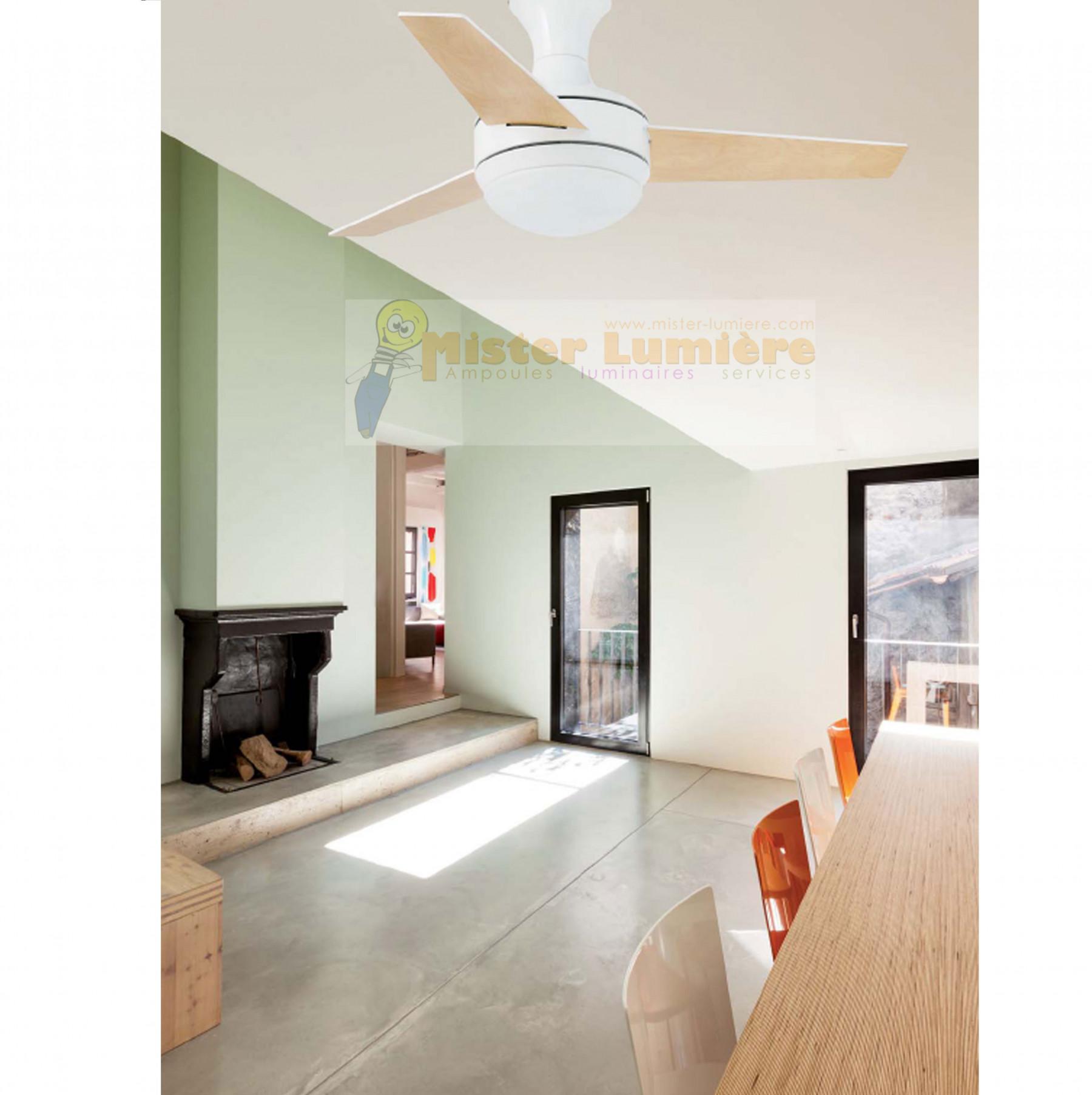 Ventilateur de plafond lumineux MINI-UFO blanc