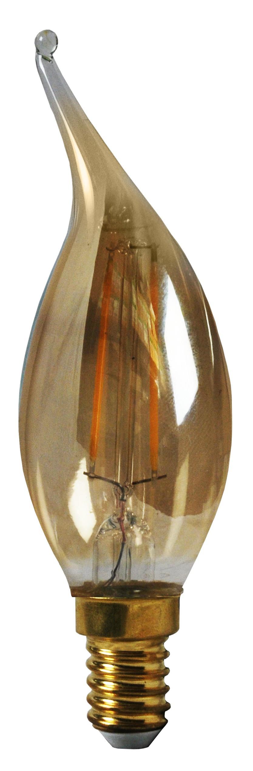 ampoule flamme filament led 2 watt cv4 ambr culot e14. Black Bedroom Furniture Sets. Home Design Ideas