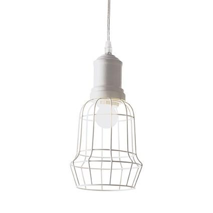 Suspension CAGE ø 17 SQUARE luminaire de IDEAL LUX 1 lumière, lustre design