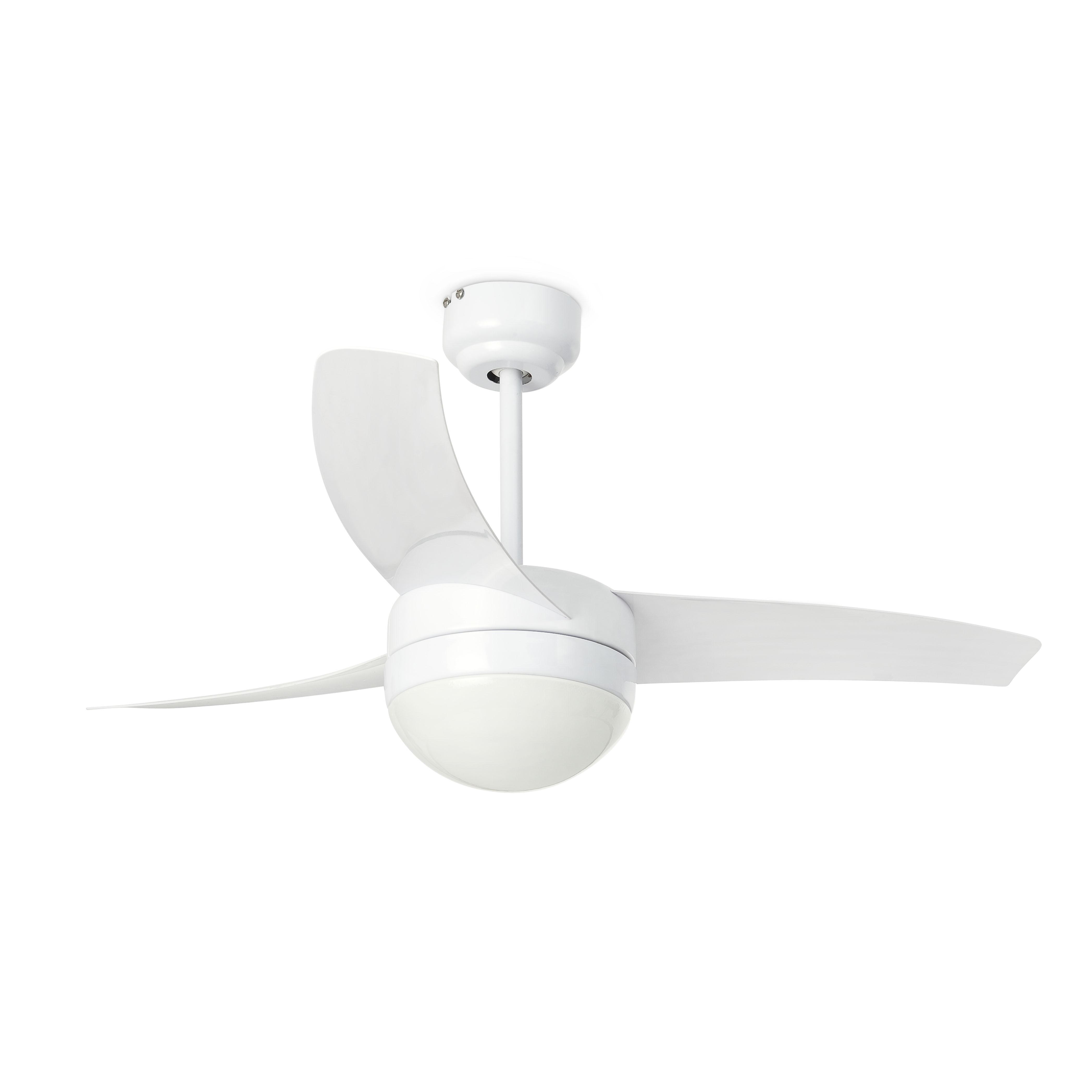 Ventilateur de plafond lumineux, EASY blanc ,3 pales design.