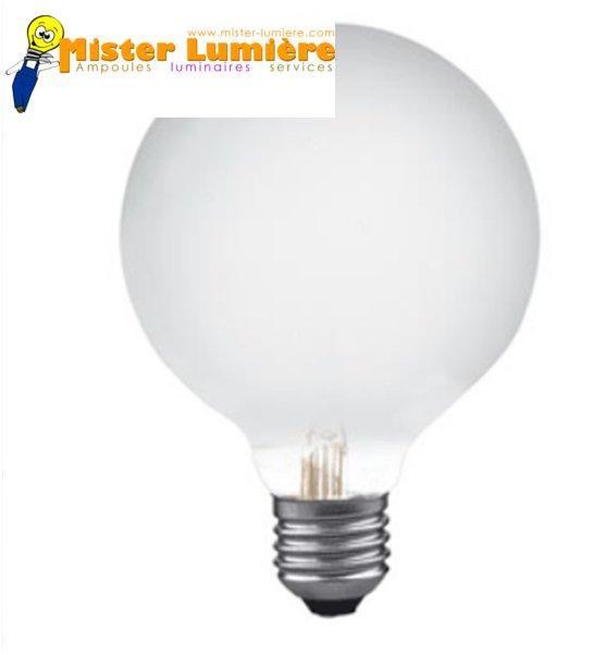 Ampoule globe opale 25 watt culot e27 diamètre 80
