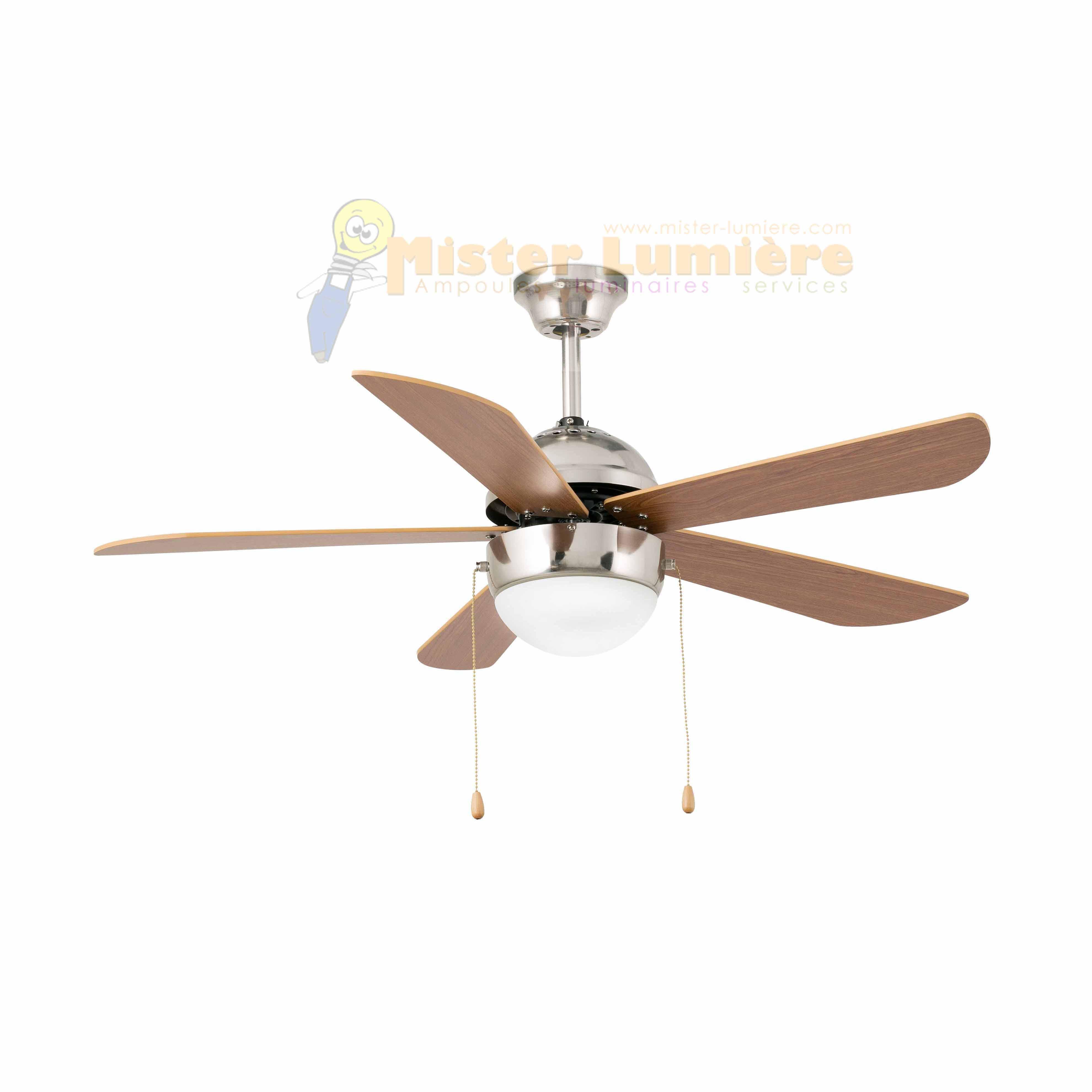 Ventilateur de plafond lumineux veneto nickel mat - Comment choisir un ventilateur de plafond ...