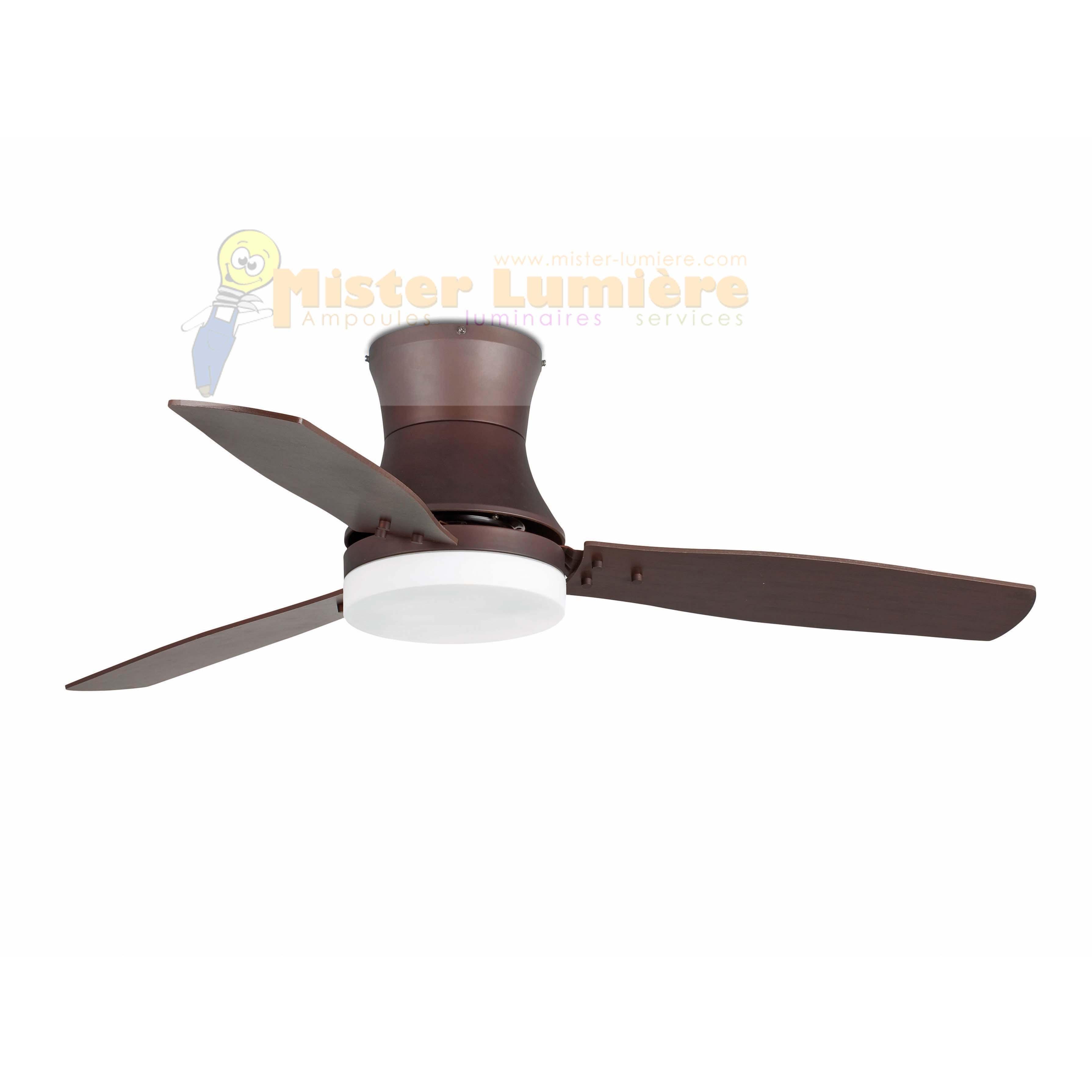 ventilateur de plafond lumineux TONSAY marron