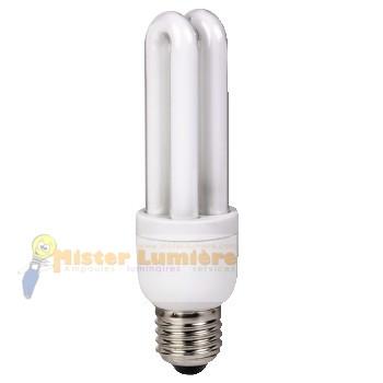 ampoule conomique 11 watt culot vis e27 blanc chaud. Black Bedroom Furniture Sets. Home Design Ideas