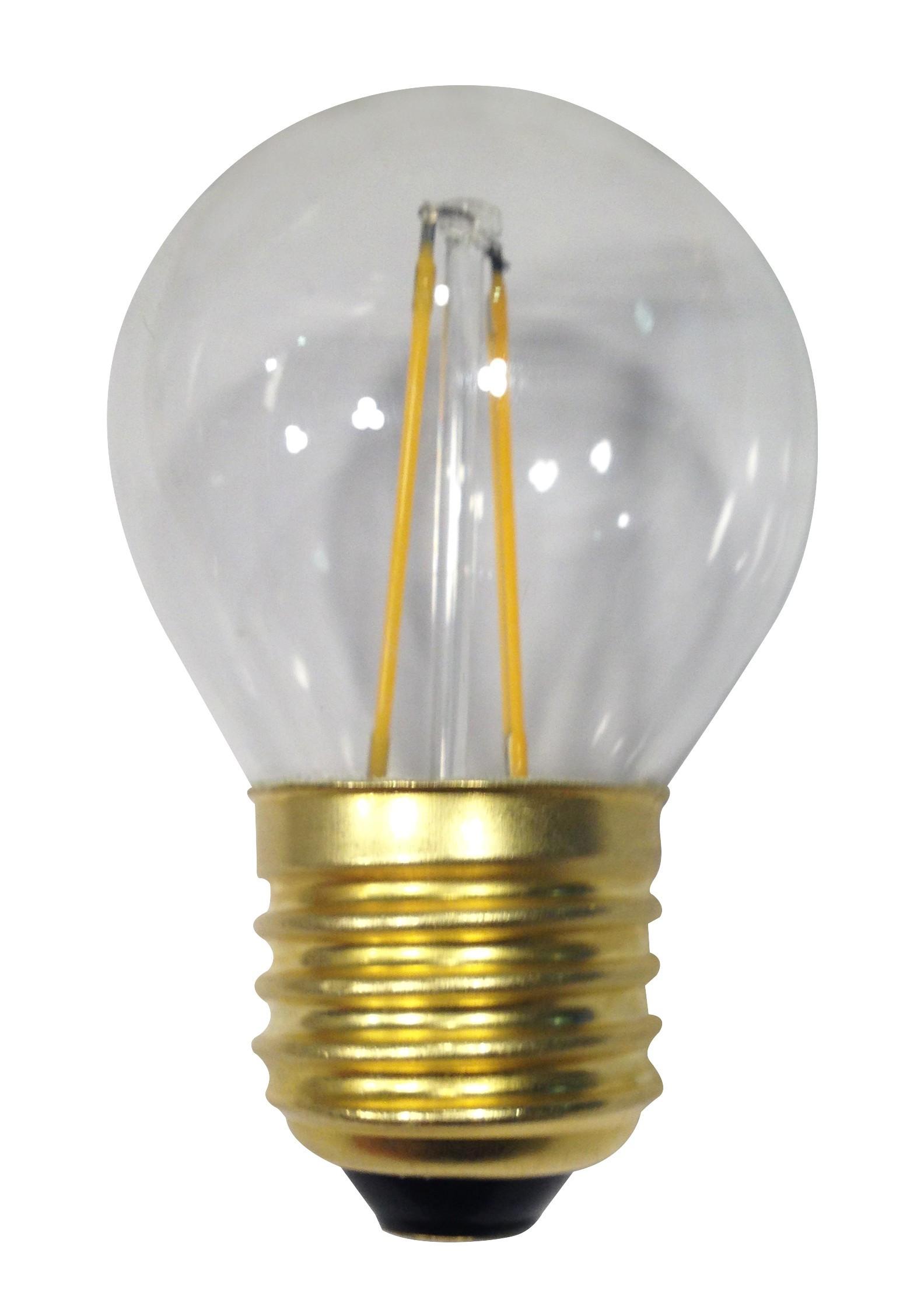 ampoule filament led 3 watt forme sph rique e27 transparente. Black Bedroom Furniture Sets. Home Design Ideas