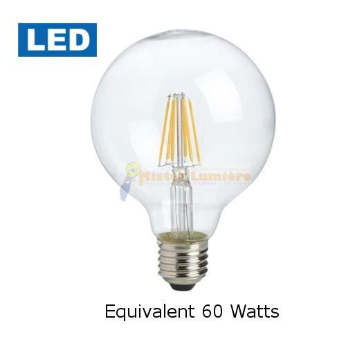 ampoule globe filament led diam tre 125 quivalent 60 watt e27. Black Bedroom Furniture Sets. Home Design Ideas