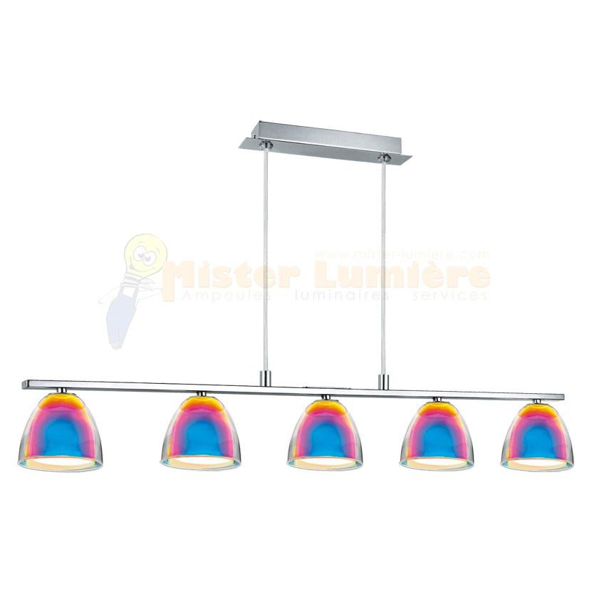 lustre suspendu gamme acento verre iris et chrome. Black Bedroom Furniture Sets. Home Design Ideas