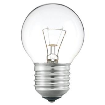 Ampoule incandescente pour four 300°c, sphérique culot e27 25 watt