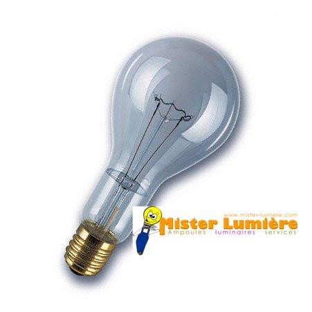 Lampe Ampoule Incandescente 300 Watt Culot E40 Claire
