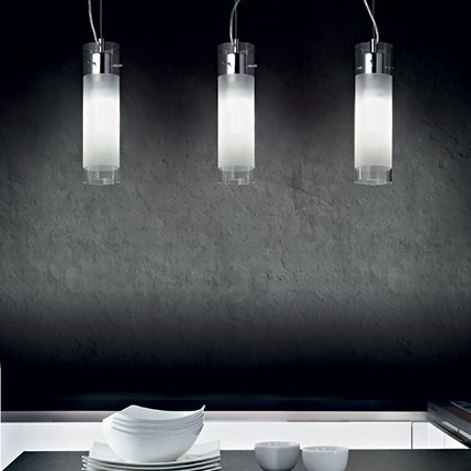 Suspension FLAM luminaire de IDEAL LUX 3 lumières, lustre design