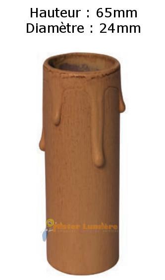 Fausse bougie fourreau carton équipement luminaire ivoire patiné