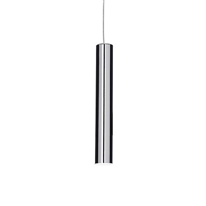 Suspension LOOK luminaire de IDEAL LUX 1 lumière, lustre design blanc/noir ou chrome