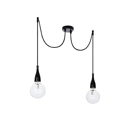 Suspension minimal luminaire de ideal lux 2 lumi res for Ampoule suspension luminaire