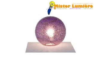 Lampe à poser en verre violet gamme « saxo » diamètre 25 mm