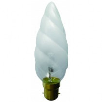 Ampoule flamme décorative B22 F15 satiné