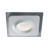 Spot à encastre en verre blanc et sablé