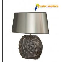 Lampe à poser en céramique gamme « skyros » gris