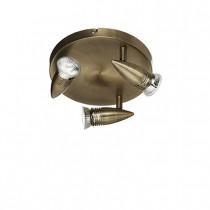 Plafonnier ALFA ø 21 luminaire de IDEAL LUX 3 spots, création design, finition au choix