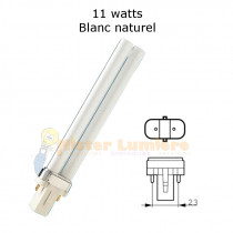 Ampoule g23 11 watt blanc naturel