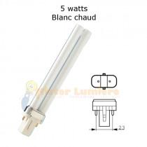 Ampoule G23 7 watt blanc chaud 827