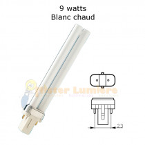 AMPOULE G23 9 WATT BLANC CHAUD