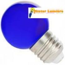 Ampoule LED de forme sphérique ronde de couleur bleu culot a vis E27