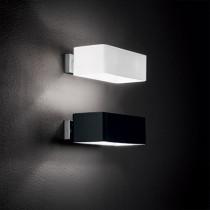 Applique BOX luminaire de IDEAL LUX 2 lumières, création design, finition au choix