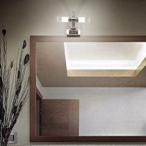 Applique DOUBLE luminaire de IDEAL LUX 4 lumières, création design