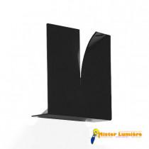 Applique design, CRACK de ZAVA LUCE métal noir