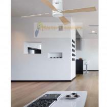 ventilateur de plafond lumineux TIMOR à LED moderne blanc