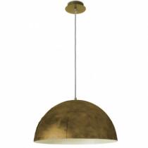 Suspension dome style industriel gamme NEO or vieilli et beige 45 cm
