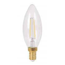 ampoule flamme FILAMENT LED 2 watt claire culot E14