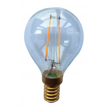 Ampoule filament LED 3 watt forme sphérique E14 transparente