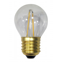 Ampoule filament LED 3 watt forme sphérique E27 transparente