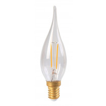 Ampoule flamme filament LED GS4 2 watt clair culot E14