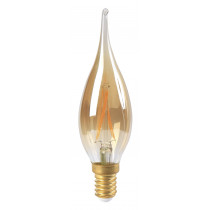 Ampoule flamme filament LED GS4 2 watt ambre culot E14