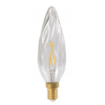 Ampoule flamme filament LED GS8 2 watt clair culot E14
