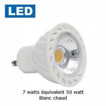 spot LED GU10 7 watt blanc chaud