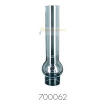 verre lampe à pétrole matador griffe 53 mm claire hauteur 268 mm