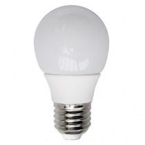 Ampoule LED sphérique ronde opale 4 watt culot e27 blanc chaud