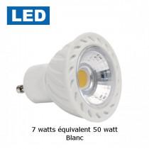 spot LED GU10 7 watt blanc