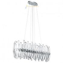 Lustre, suspension cristal et chrome 8 lumières gamme DRIFTER