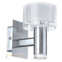 Applique moderne verre et chrome 1 lumière FABIANA
