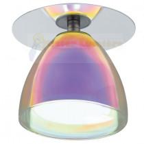 Spot encastré moderne gamme ACENTO verre irisé et chorme