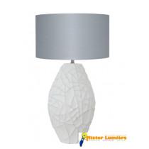 Lampe à poser en céramique gamme « scénario » abat-jour gris