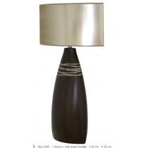 Lampe à poser en céramique gamme « siroco » grand modèle noir et gris