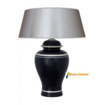 Lampe à poser en céramique gamme « scala » grand modèle noir et gris