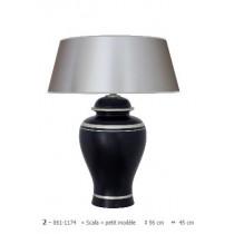 Lampe à poser en céramique gamme « scala » petit modèle noir et gris